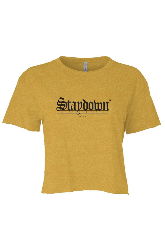 WOMENS OLD ENGLISH CROP TOP GOLD