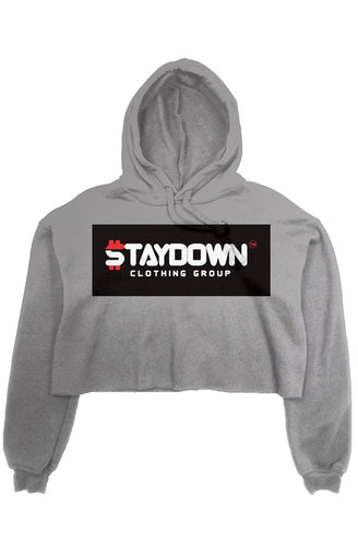 OWN LADIES CROP TOP HOODIE GREY