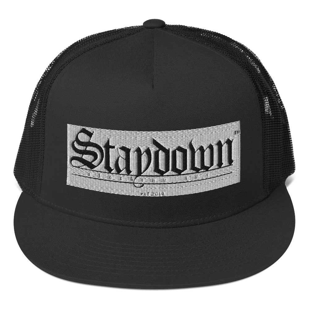 OLD ENGLISH STAYDOWN SNAPBACK HAT