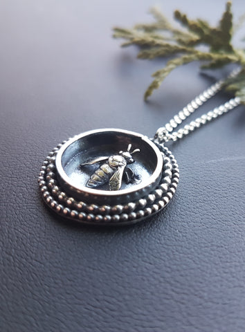 Bee Shadowbox Necklace
