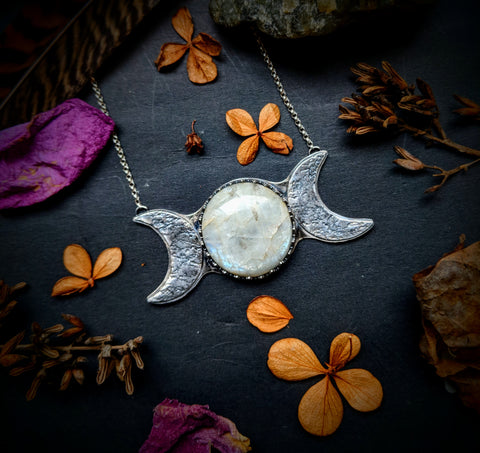 Moonstone/Moon Phase Necklace