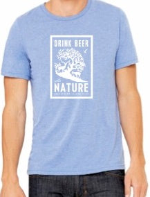 Mens Drink Beer With Nature T-Shirt - Blue