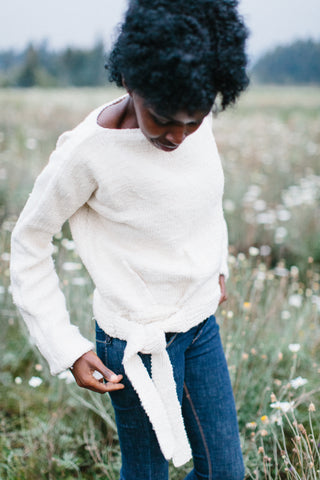 Tie Sweater - 100% Ethiopian Hand Spun Cotton