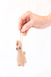 Lucy Llama Mini Ornament Voca Peach