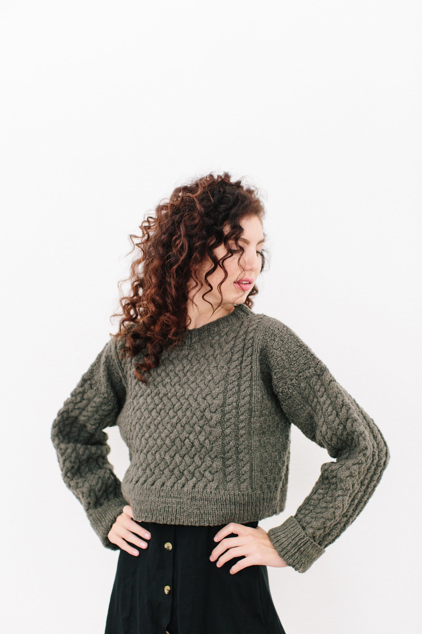 Daphrose Cable Sweater in Organic Merino