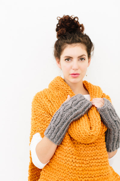 Odette Cabled Hand Warmers Pattern