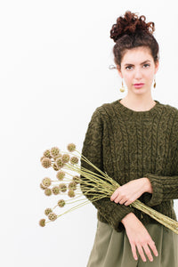 Clema Cable Sweater in Organic Merino