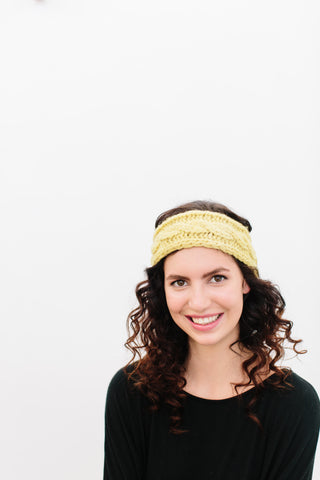 Odette Cabled Headband in Organic Merino