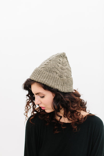 Christine Cable Beanie in Organic Merino