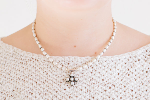 Diani Precious Stones Necklace, Freshwater Pearls