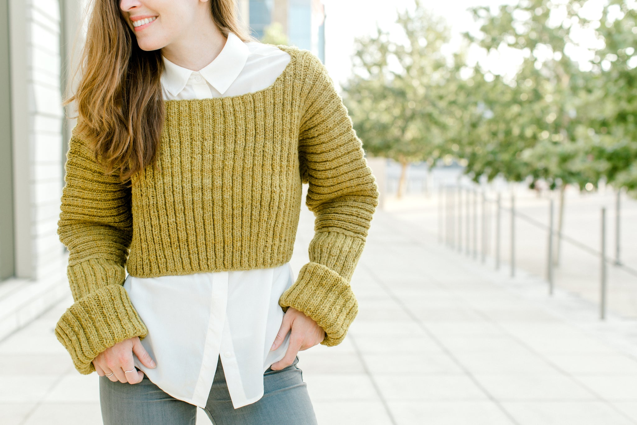 Double Fisherman Crop Sweater