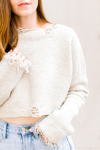 Marguerite Crop Sweater in Organic Merino