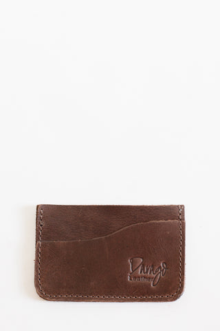 Leather Card Holder, Chocolate