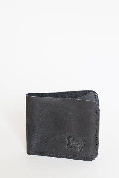 Mens Bifold Leather Wallet, Black