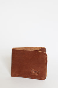 Mens Bifold Leather Wallet, Chocolate