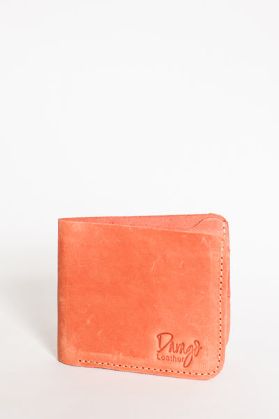 Mens Bifold Leather Wallet, Rosé