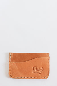 Leather Card Holder, Caramel