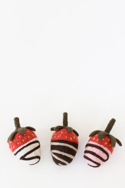 Chocolate-Covered Strawberry Trio