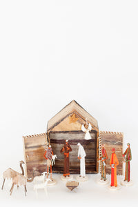 Banana Fiber Nativity with Stable