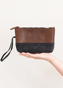 Abena Wristlet, Chocolate and Black