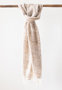 Wild Silk Scarf, Natural Light