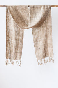 Wild Silk Skinny Scarf, Natural