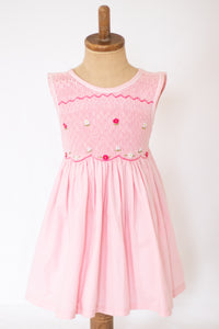 Hand-Smocked Dress, Bubble Gum Floral