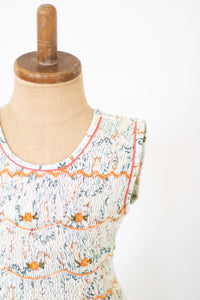 Hand-Smocked Dress Floral, Whimsical