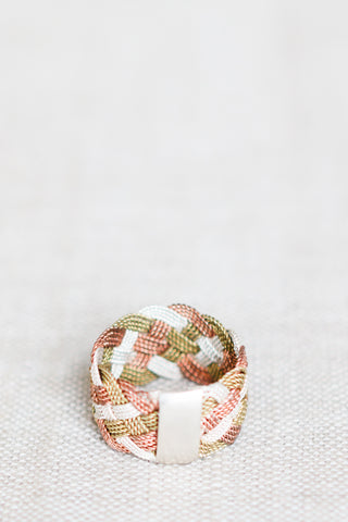 Mixed Metal Braided Ring