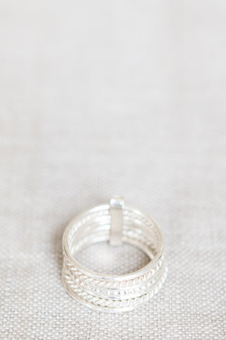 Seven Day Ring, Sterling