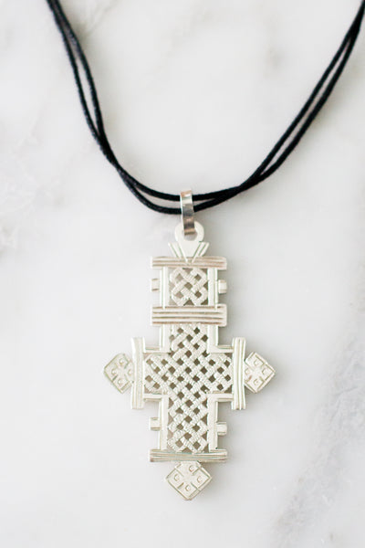 Coptic Cross Necklace, Sterling