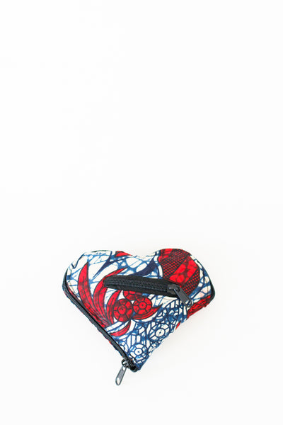 Expandable Heart Tote, Scarlet