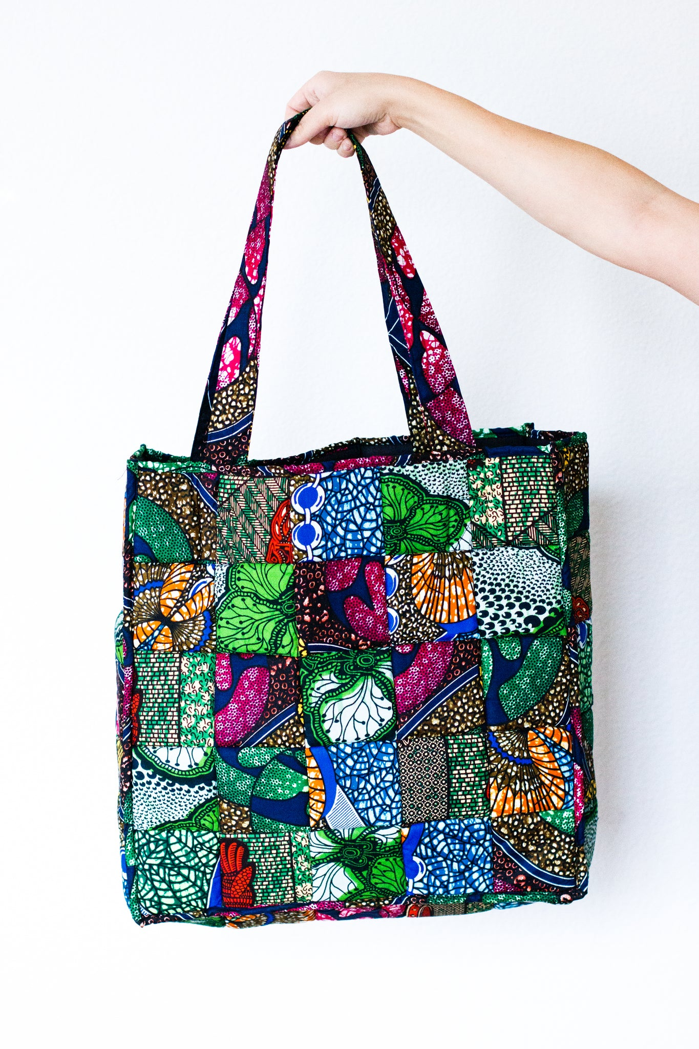 Kitenge Quilted Patchwork Tote