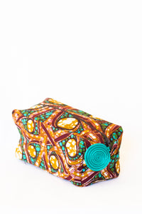 Kitenge Zipper Case, Batik Vines