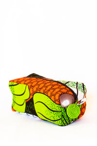 Kitenge Zipper Case, Citrus