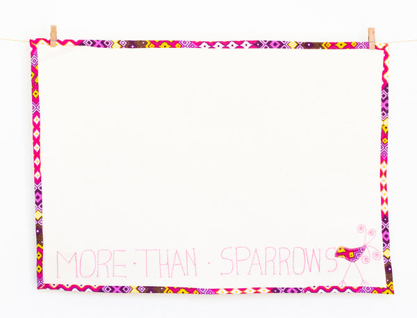 More Than Sparrows Tea Towel, Pink Lemonade