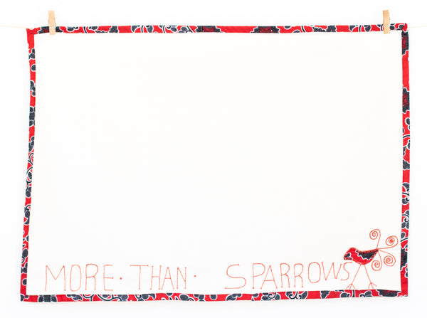 More Than Sparrows Tea Towel, Scarlet