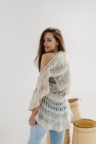 Chantal Crocheted Vest - Ethiopian Cotton