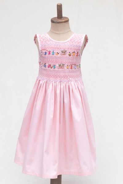 Hand Smocked Dress Children Playing, Mango