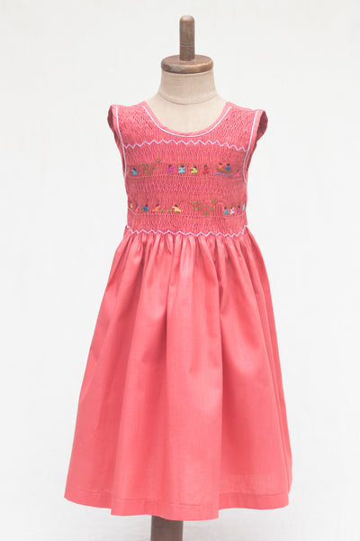 Hand Smocked Dress Children Playing, Punch