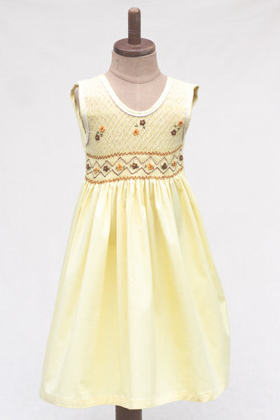 Hand Smocked Dress, Buttercup