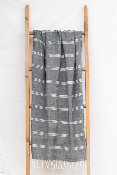 Handwoven Bath Sheet, Slate