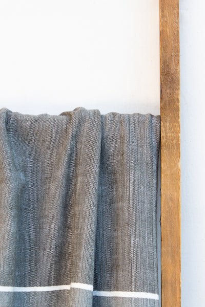 Handwoven Bath Sheet, Stone
