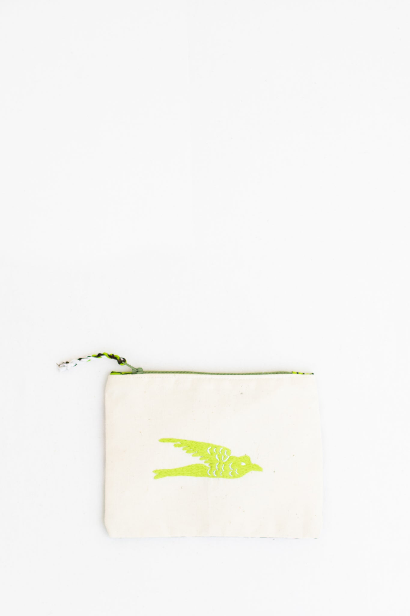 Embroidered Swallow Pouch, Citrine