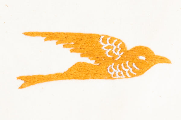 Embroidered Swallow Pouch, Gold