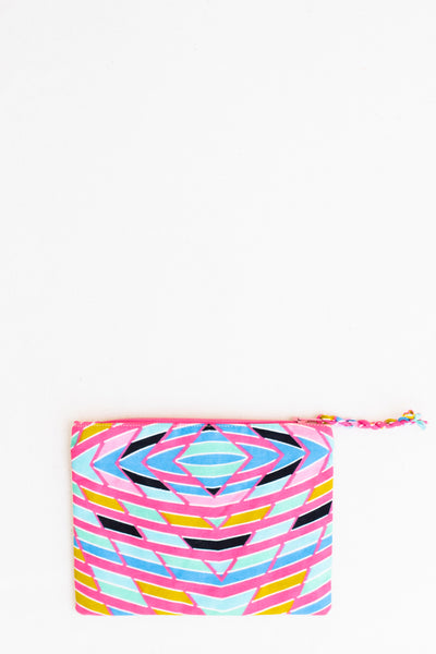 Embroidered Swallow Pouch, Posie