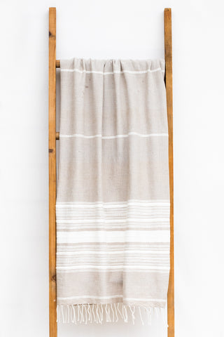 Handwoven Bath Sheet, Sandstone