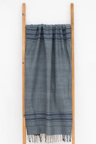 Handwoven Bath Sheet, Riverstone