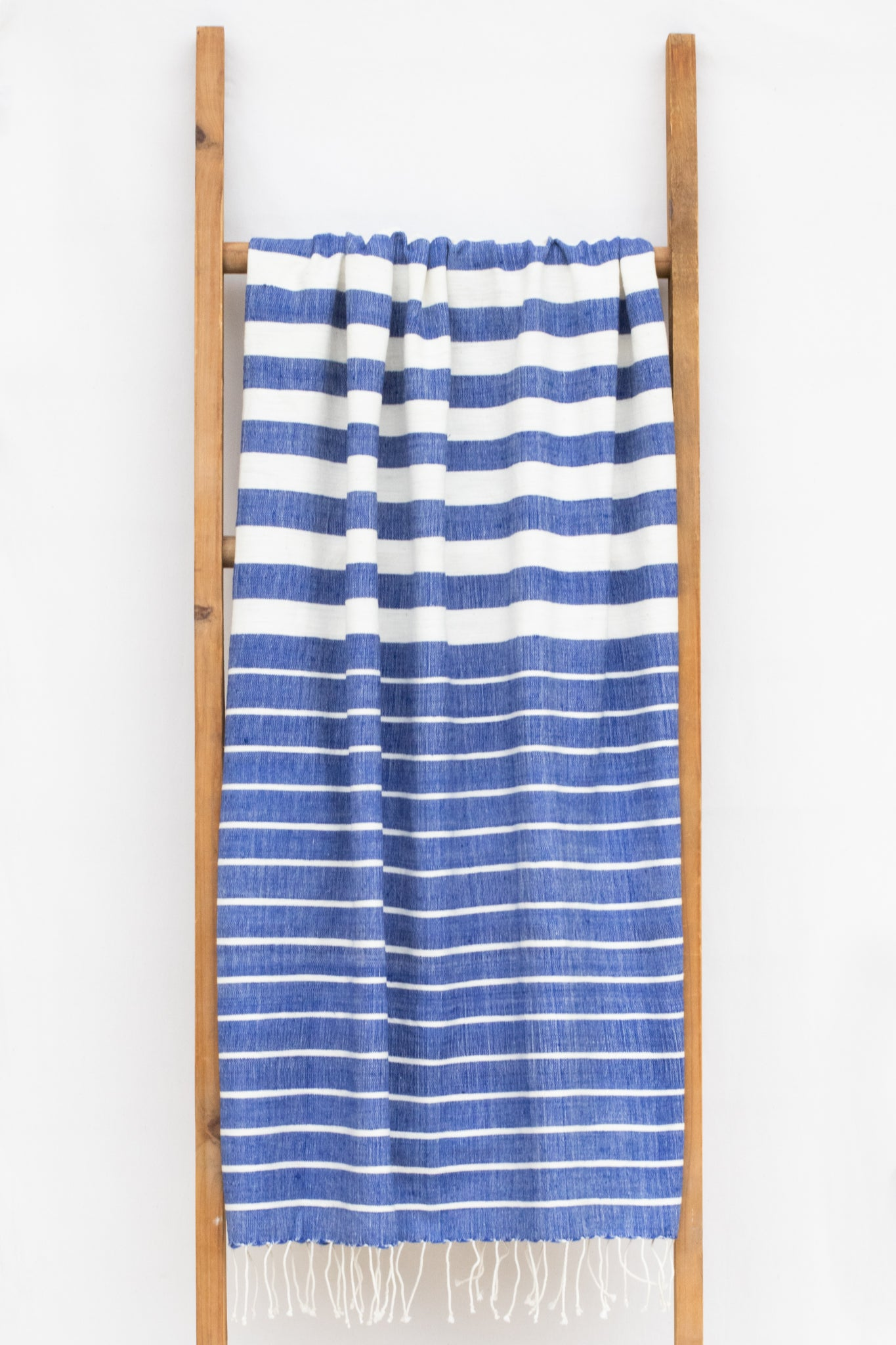 Handwoven Bath Sheet, Cobalt
