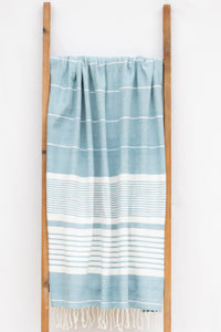 Handwoven Bath Sheet, Ocean
